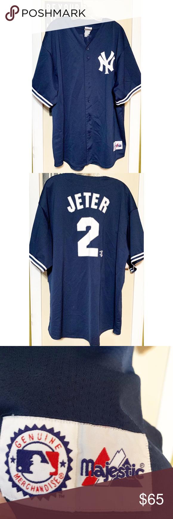 detailed look d7331 ac7b4 New York Yankees Derek Jeter #2 MLB Jersey -Throwback Derek ...