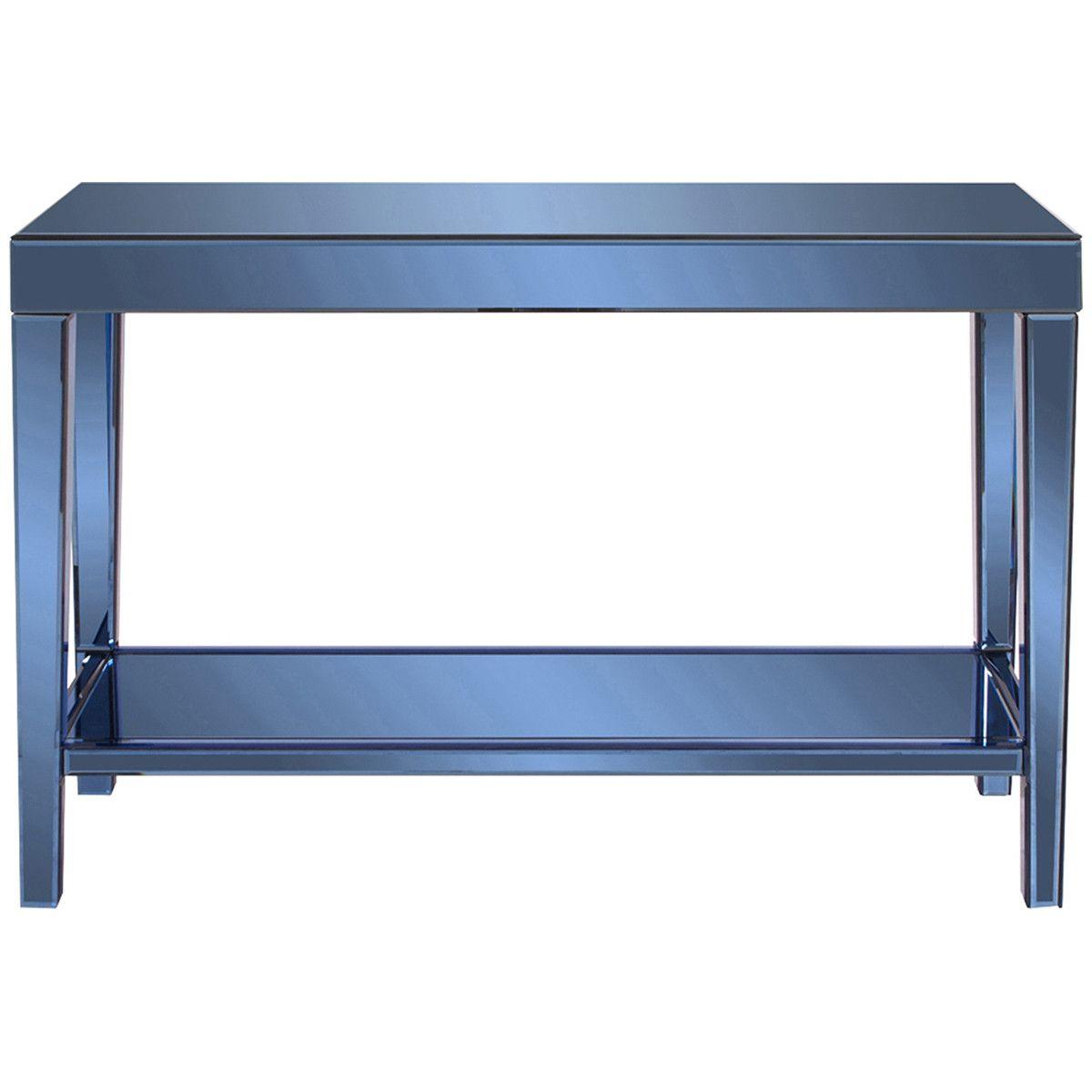 Howard elliott dorset cobalt blue mirrored console table dining howard elliott dorset cobalt blue mirrored console table geotapseo Image collections