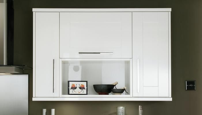 Hob Wall Unit with Bespoke Shelving and Full-Height Wall Units ...