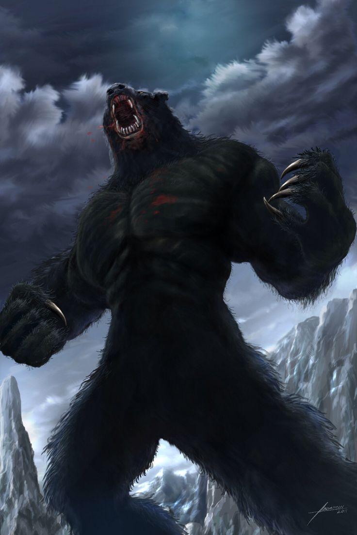 Человек медведь картинки