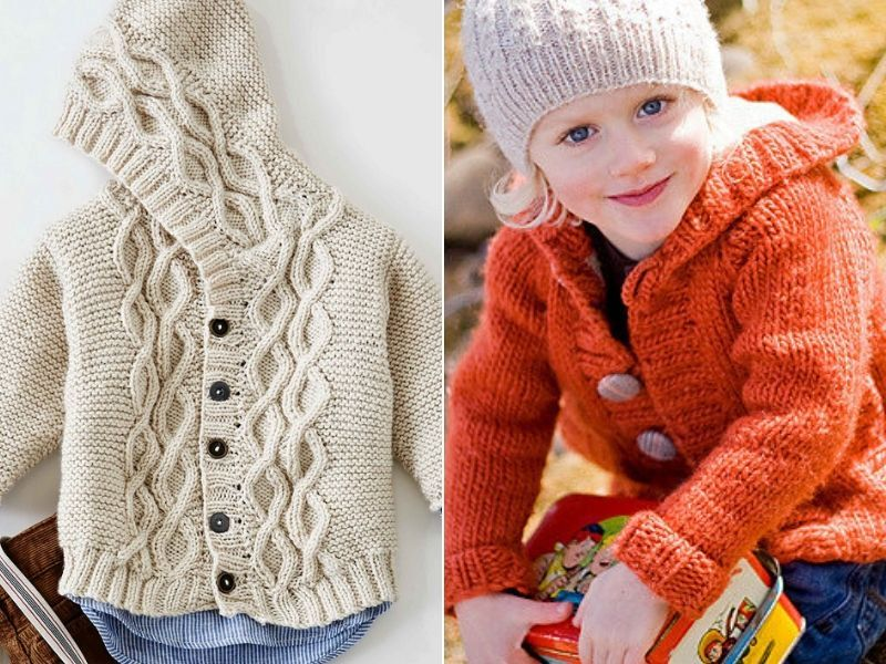 Knitted Cardigans for Kids Free Patterns