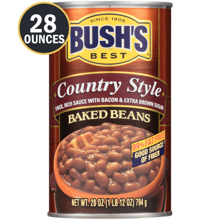 Bush S Country Style Baked Beans Plant Based Protein Canned Beans 28 Oz Walmart Com Baked Beans Plant Based Protein Beans