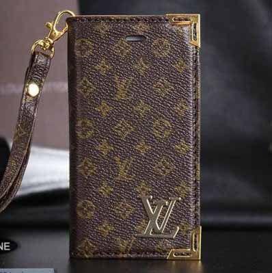 Louis Vuitton iPhone 6 Wallet Case LV Designer Phone Cover Brown