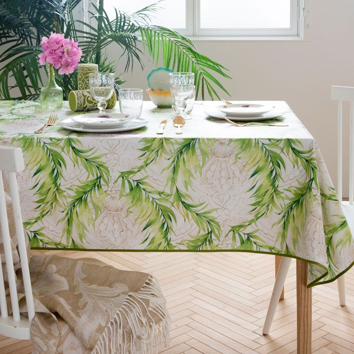 Laminated Cotton Branch Print Tablecloth Tablecloths Napkins