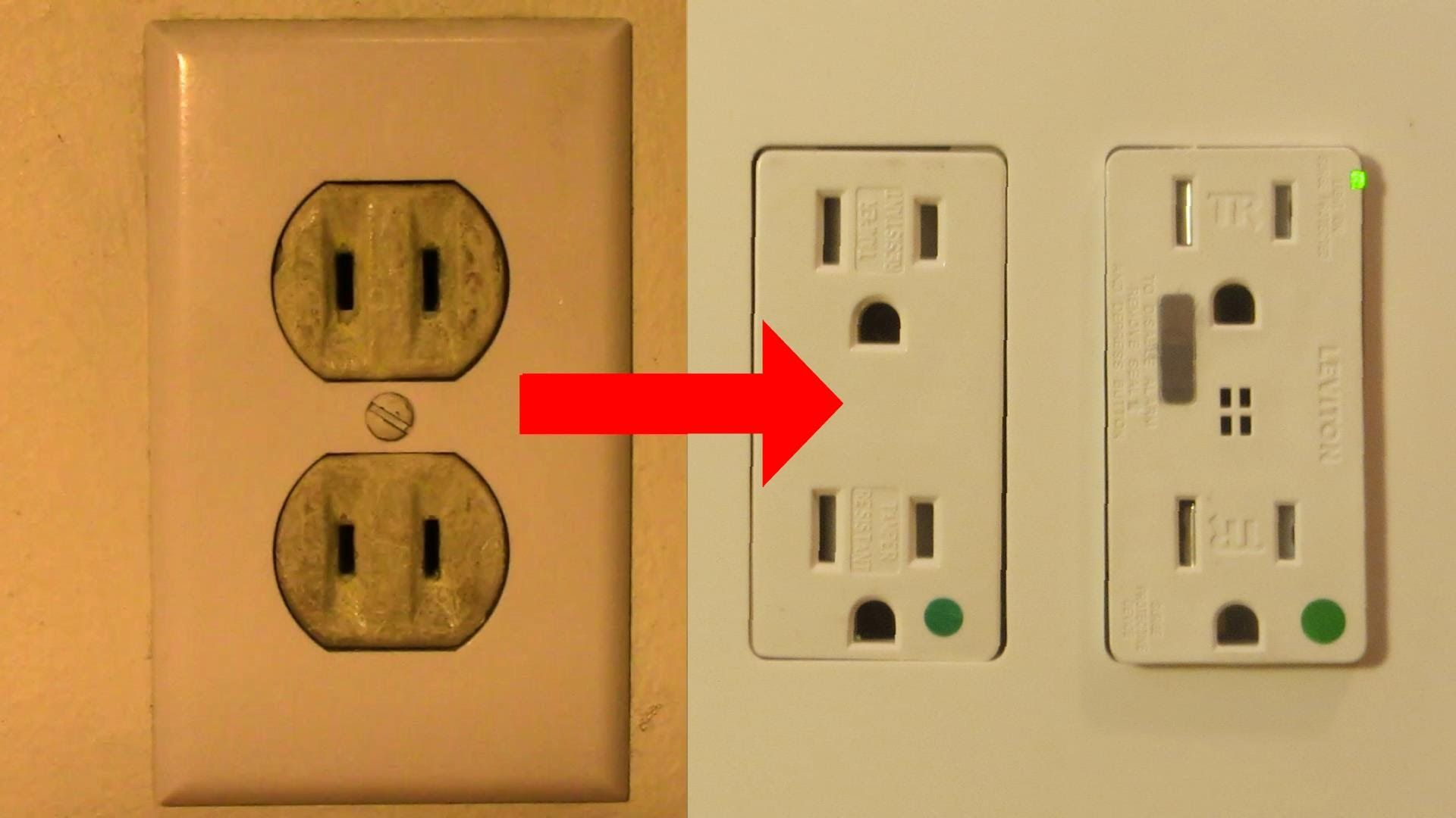 replace a 2 prong outlet with double duplex grounded receptacles [ 1920 x 1080 Pixel ]