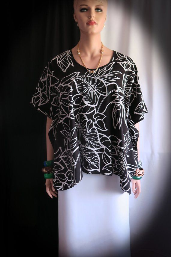 8cb0ce0a1 Moonlight Ti leaves Hawaiian Polynesian Clothing Woman s Butterfly caftan