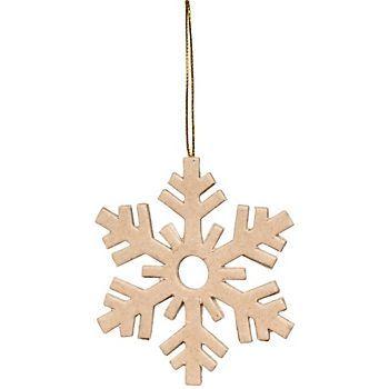 Flat Snowflake Kraft Ornament