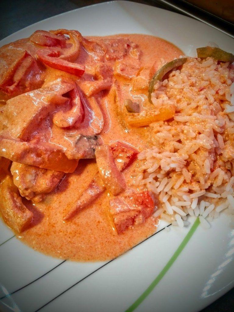 Paprika-Sahne-Hähnchen #sausagepotatoes