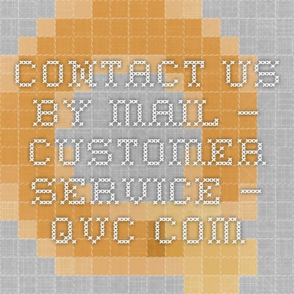 contact us by mail customer service qvccom