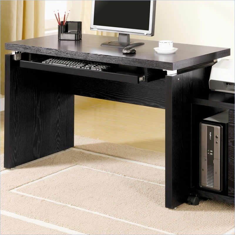 Awesome Coaster Peel Computer Desk With Keyboard Tray In Black