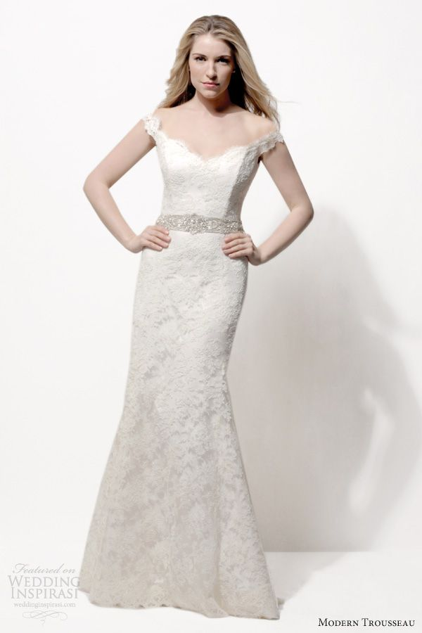 Modern Trousseau Spring 2014 Wedding Dresses | Lace, Flare and Wedding