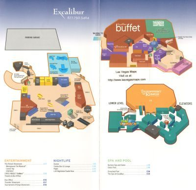 Excalibur Property Map Las Vegas Maps Las Vegas Map Excalibur