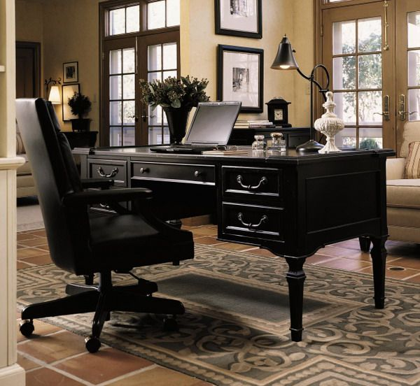 Home Office Desk Design Contemporary Black Chair And With Drawers In