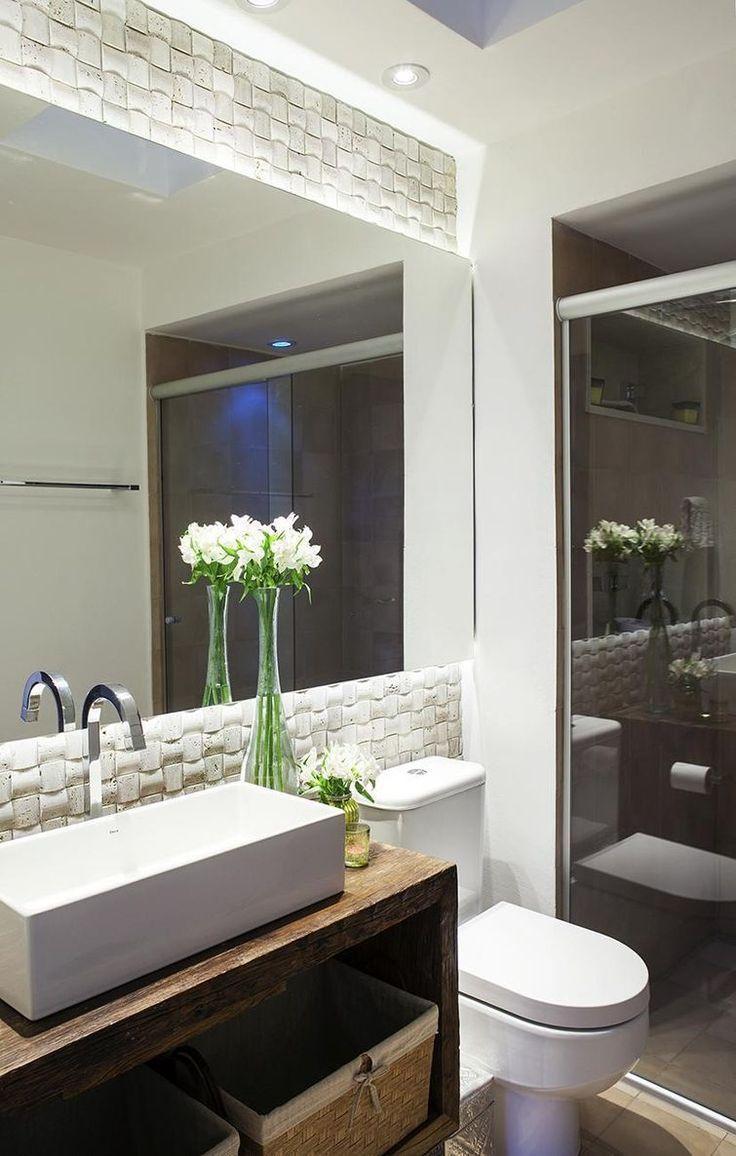 Revestimento 3d Decoracao Banheiro Banheiros Pinterest Lofts
