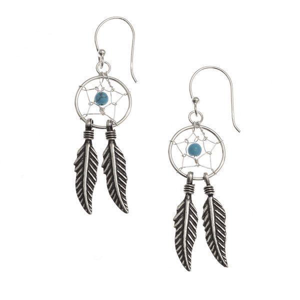 Sterling Silver Dream Catcher Earrings With Fishhooks Rox