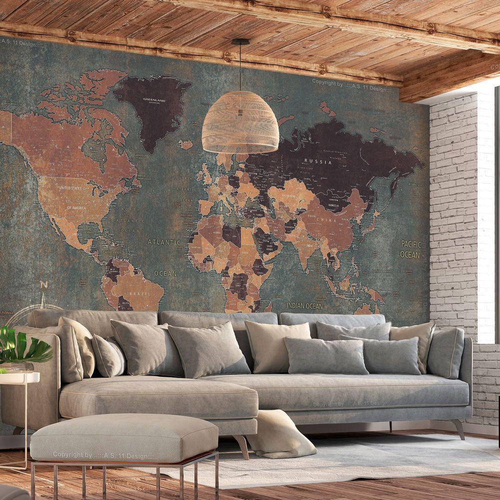 VLIES FOTOTAPETE Weltkarte Map retro braun khaki antik TAPETE WANDBILDER XXL 043 | Heimwerker, Farben, Tapeten & Zubehör, Tapeten & Zubehör | eBay! #worldmapmural