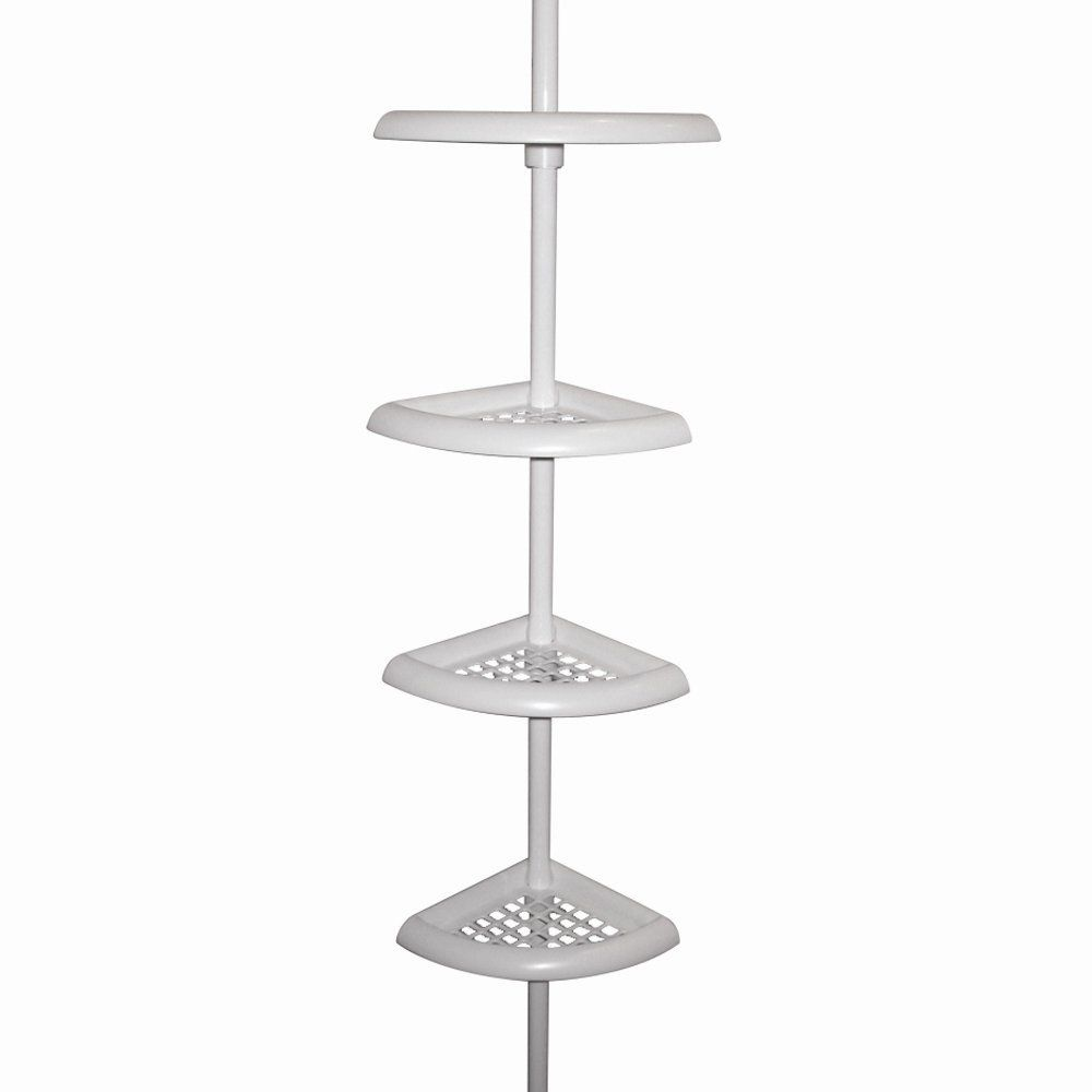 Shop Zenith Products 2104W 4-Tier Corner Shower Caddy, White at ATG ...