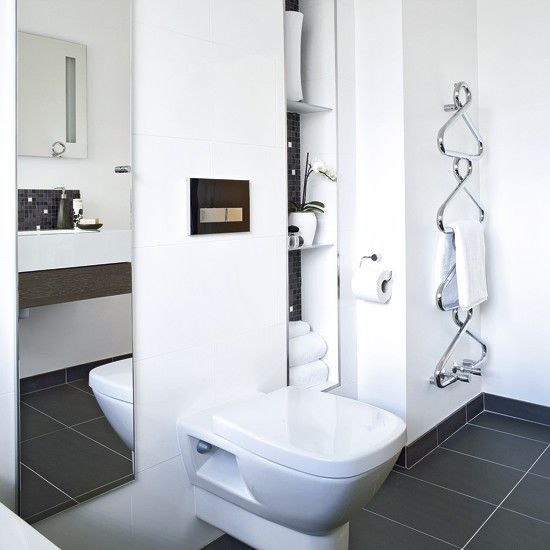 Modern bathroom with hidden storage