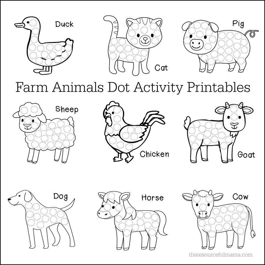 farm animals dot activity printables math centers farm animal crafts farm animals farm. Black Bedroom Furniture Sets. Home Design Ideas