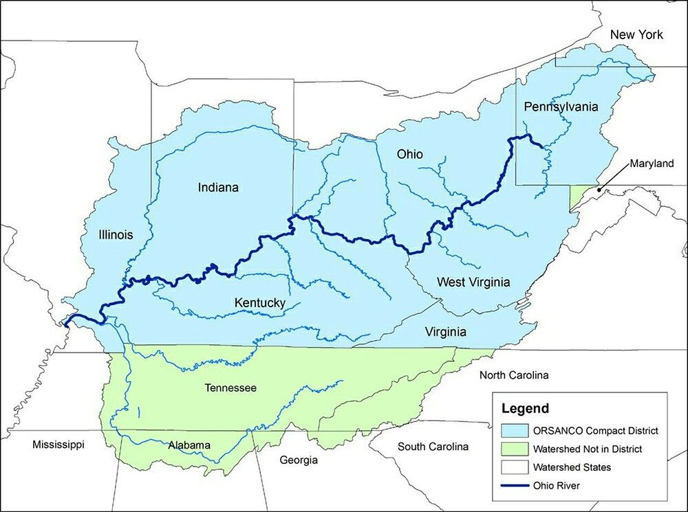 Map Of The Ohio River Valley French And Indian War Pinterest - Ohio River On Us Map