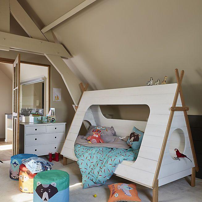 tipi lit 90x200cm en pin massif en forme de tipi alin a d co chambre d 39 enfants. Black Bedroom Furniture Sets. Home Design Ideas