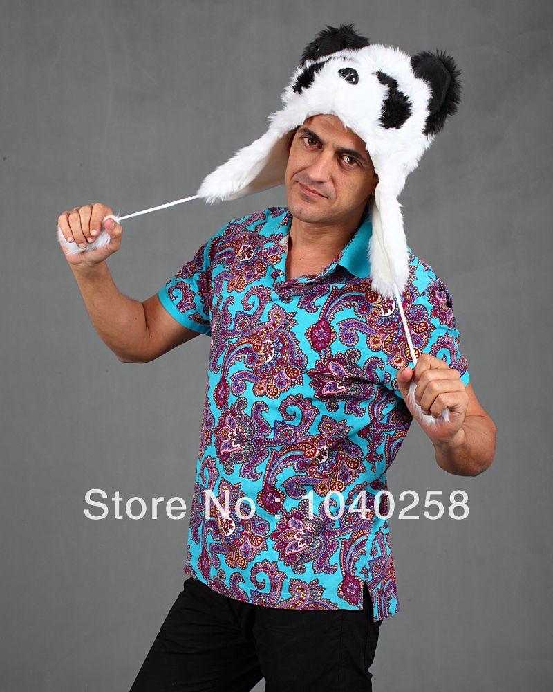 595c1cd41b9 Faux Fur Half Animal Hats Animal Ears Hoodie Panda Hood Winter Hat TFS1394