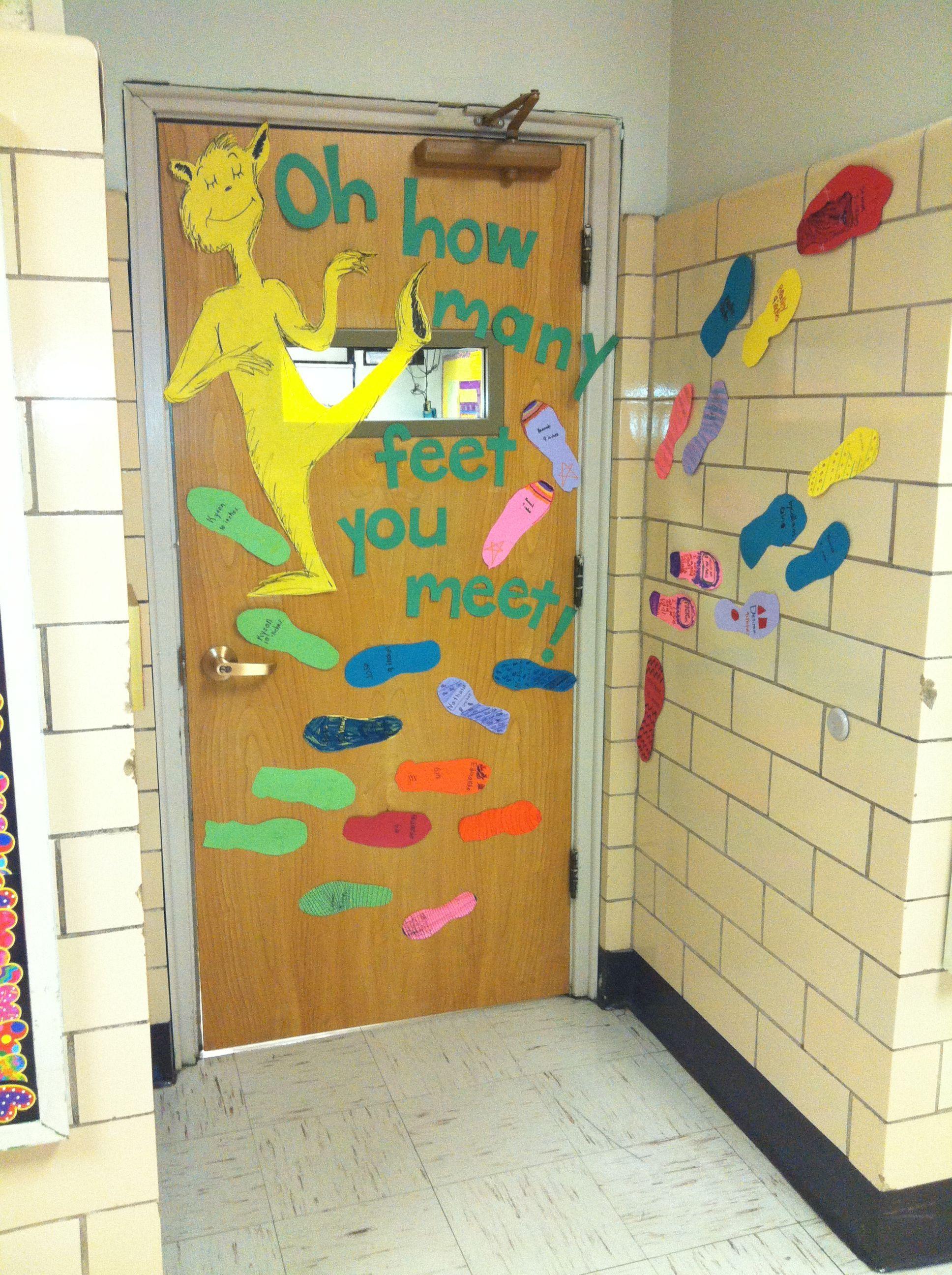 Read Across America- The Foot Book by Dr. Seuss- door decorating contest. The ki... Read Across America- The Foot Book by ...#america #book #contest #decorating #door #foot #read #seuss
