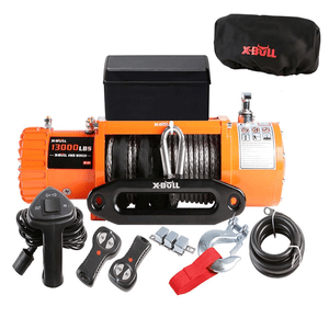 13000 Lb Jeep Winch With Waterproof Synthetic Rope Jeep Winch Synthetic Rope Winch Rope