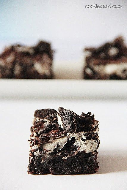 Oreo Brownies...these look Amazeballs!