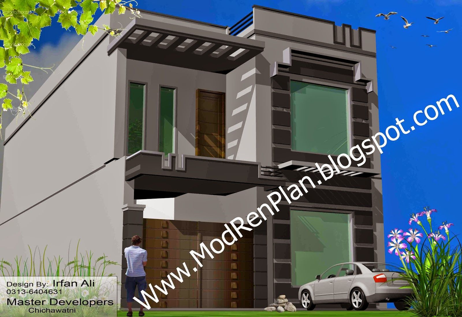 front design of 7 marla house