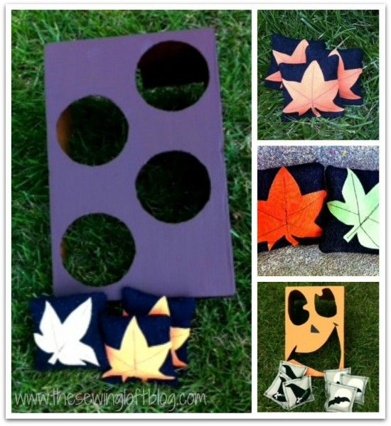 DIY Fall Toss Game {The Sewing Loft} @Setting for Four