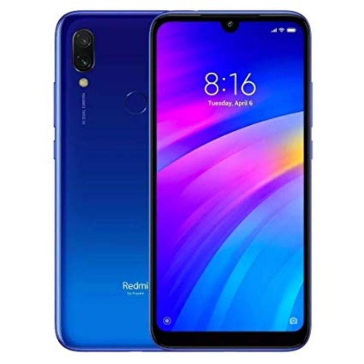 Smartphone Xiaomi Redmi 7 Azul 32gb Dual 4g Tela 6 26 Celular Smartphone Smartphone Camera Frontal