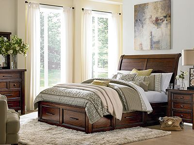 Tuscany Queen Sleigh Bed with Storage #steinhafels Dream Home