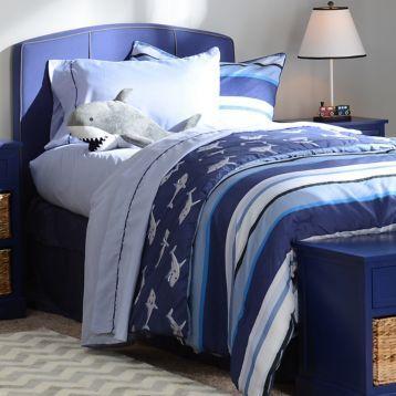 This Shark Twin Comforter Set with Friend would be perfect for a boy's bedroom! #kirklands #kirklandskids