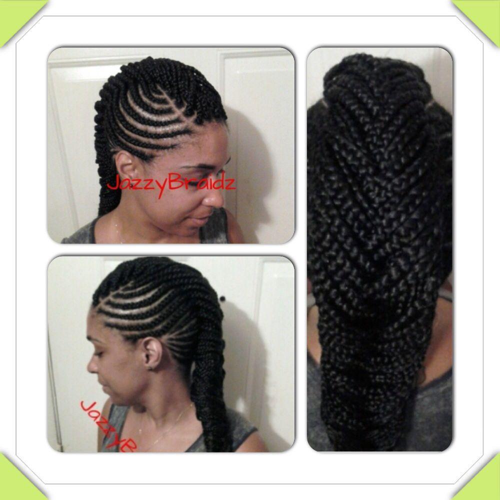 cornrows braids mohawk protective