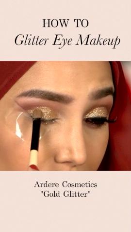 Easy Glitter Eye Makeup