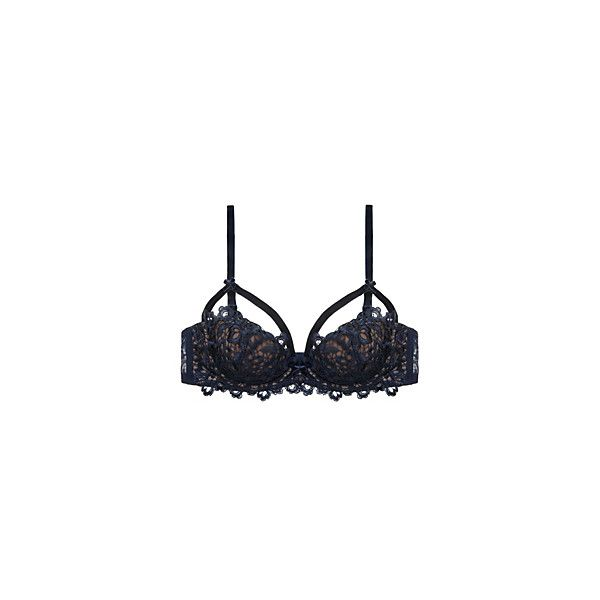 646ec2b6a3906 Dita Von Teese Black Dahlia Balconette Bra ( 43) ❤ liked on Polyvore  featuring intimates