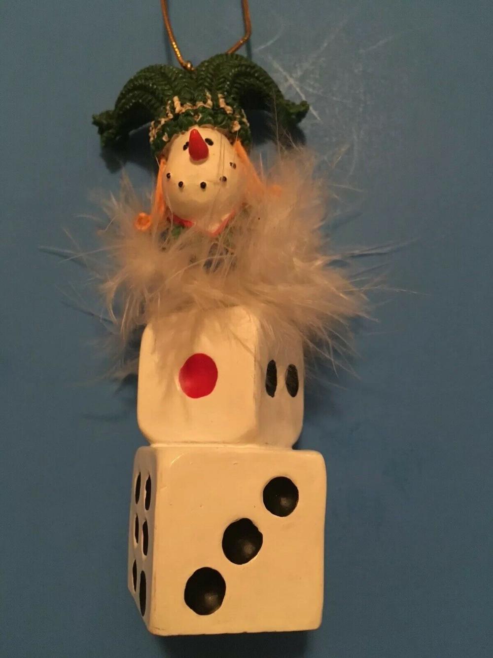 Cute Las Vegas Gambling Snowman Joker Dice Christmas Winter Ornament Bunco Ebay Winter Ornaments Snowman Ornaments