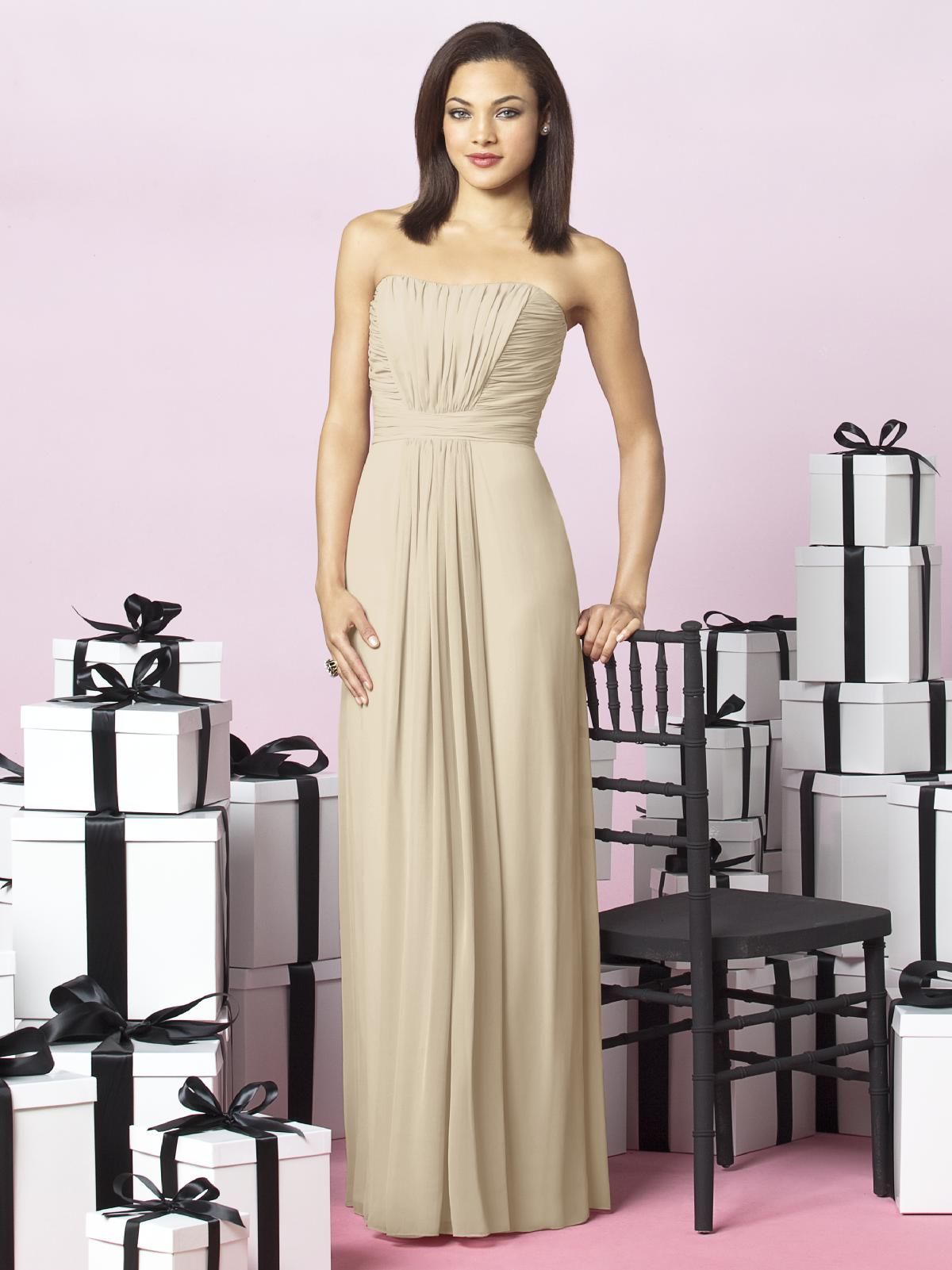 Champagne bridesmaid dress getting hitched pinterest champagne