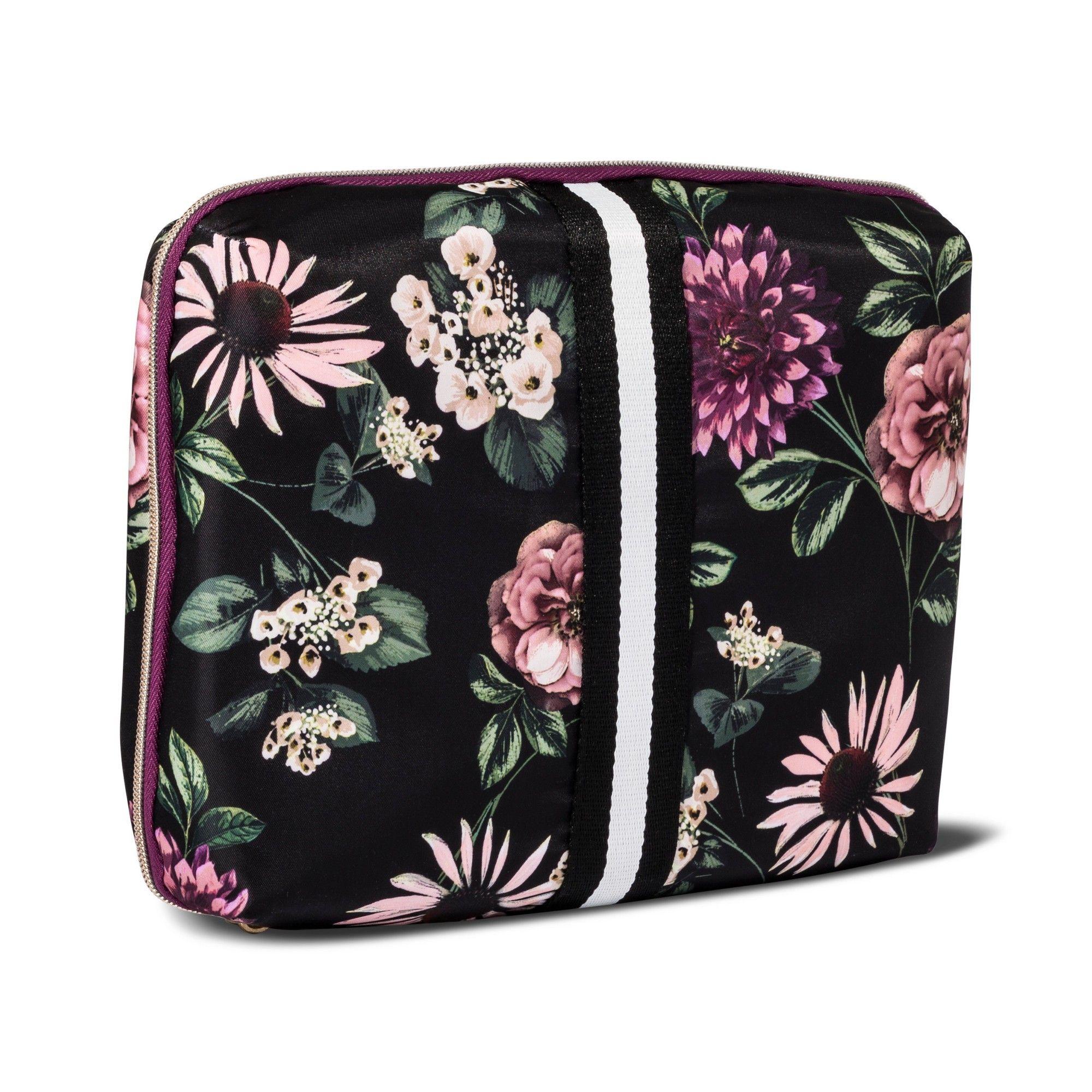 47b2f0afbc10 Sonia Kashuk™ Cosmetic Bag Beauty Organizer Dark Floral with Webbing ...