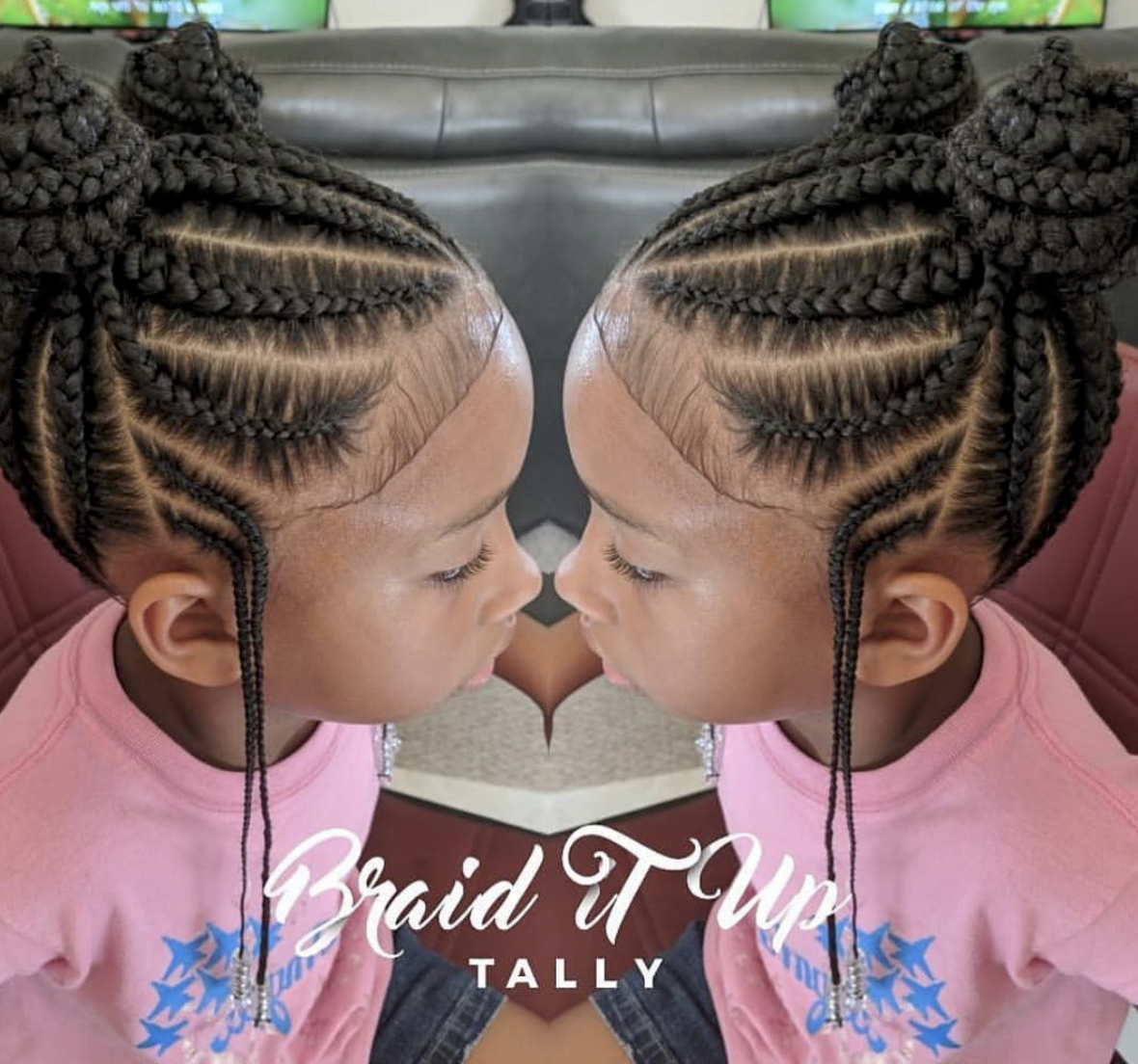 He Cutest Love These Double Knot Feed In Buns By Braidituptally Voiceofhaircare Com Kids Hairstyles Girls Kids Hairstyles Kids Braided Hairstyles