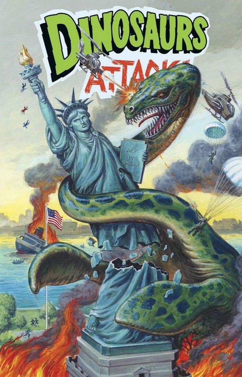 Dinosaurs attack dinosaur books comic books art
