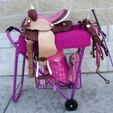 English Or Western Show Rolling Saddle Stand Rack Stack