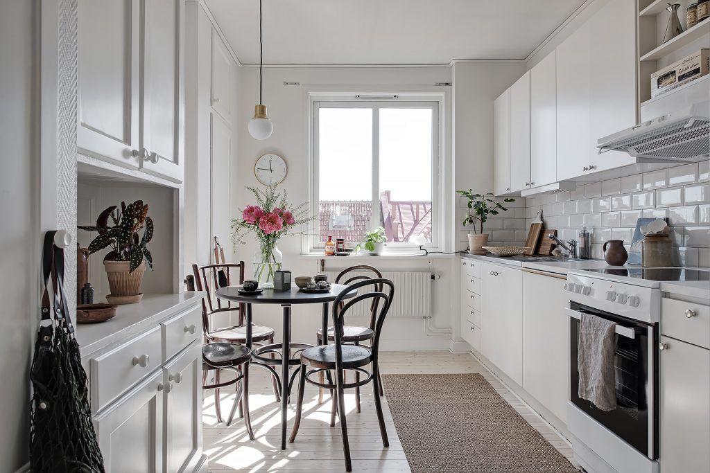 Dit huis laat zien dat een kleine eethoek in de keuken heel