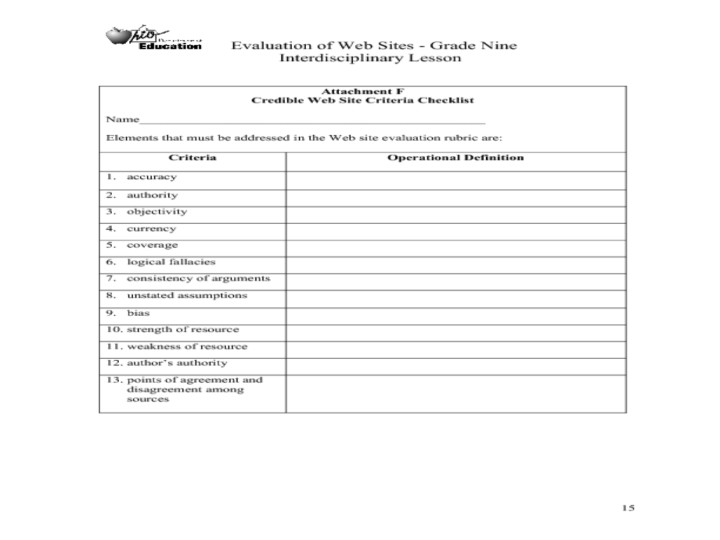 Evaluation of Web Sites 6th 12th Grade Lesson Plan – Lesson Plan Sites