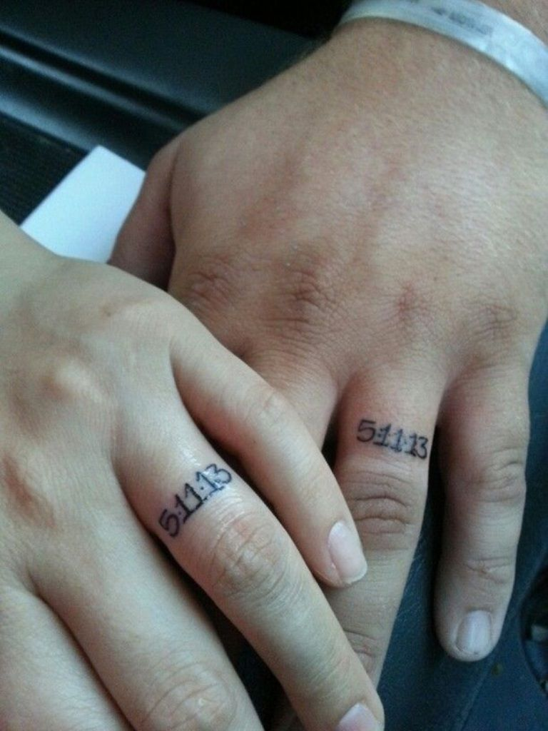 Wedding Ring Tattoos 12 - MagMent | tattoos | Pinterest | Wedding ...