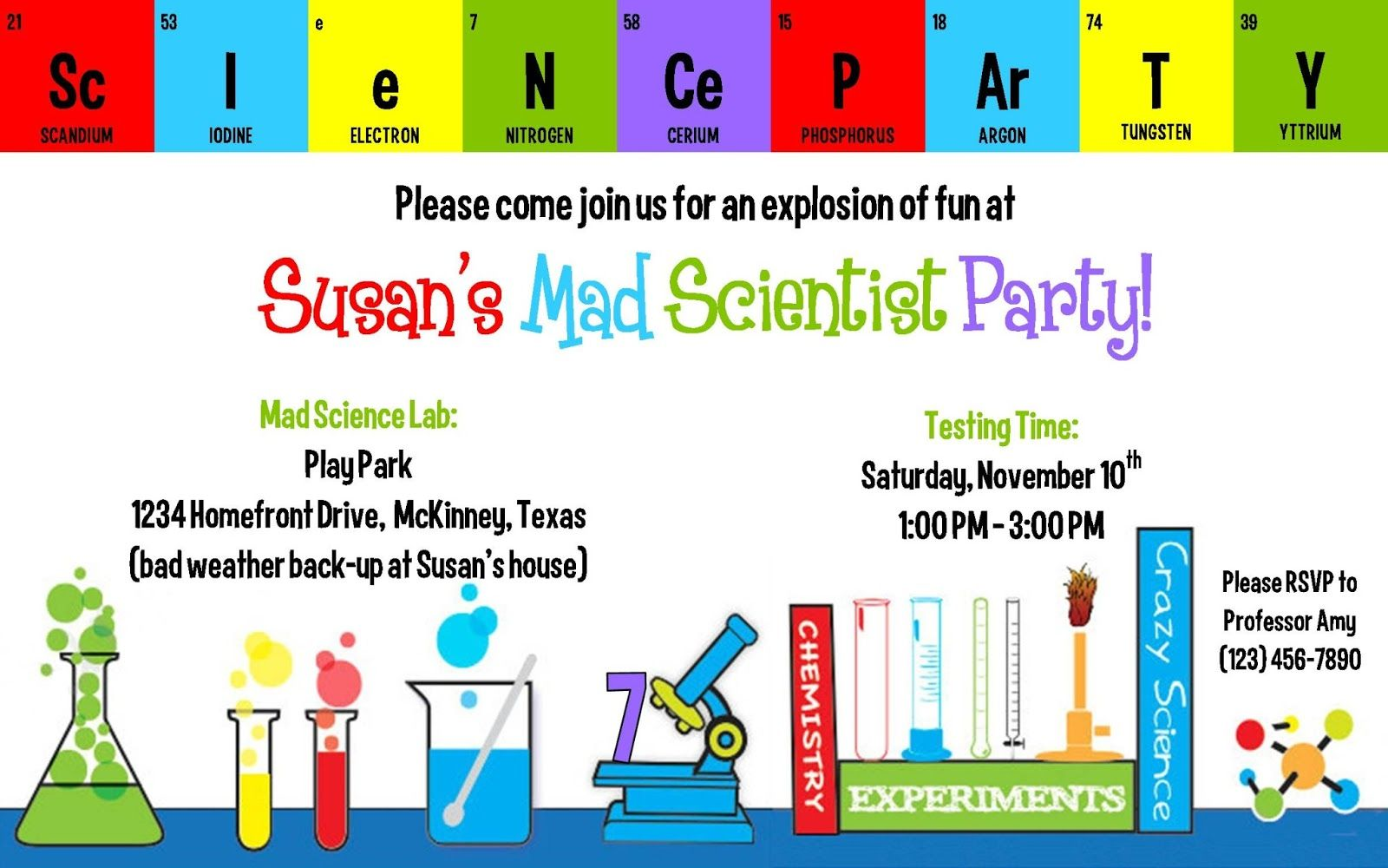 creations by kimberly | MAD SCIENCE BIRTHDAY IDEAS | Pinterest ...