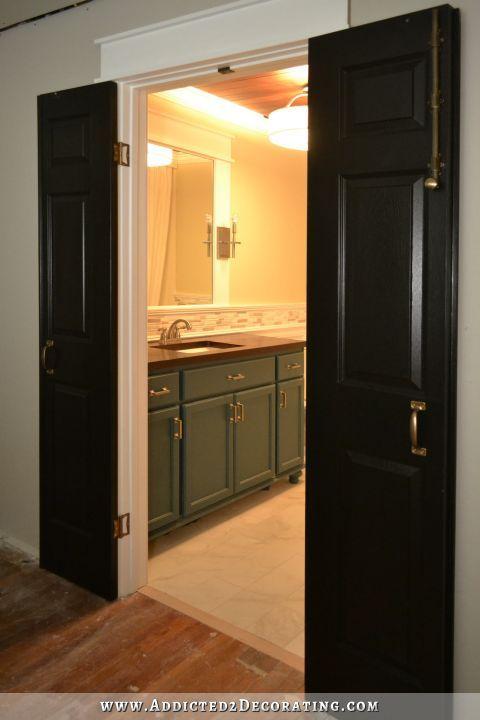 Bi Fold Closet Doors Used As Double Doors With Images Closet