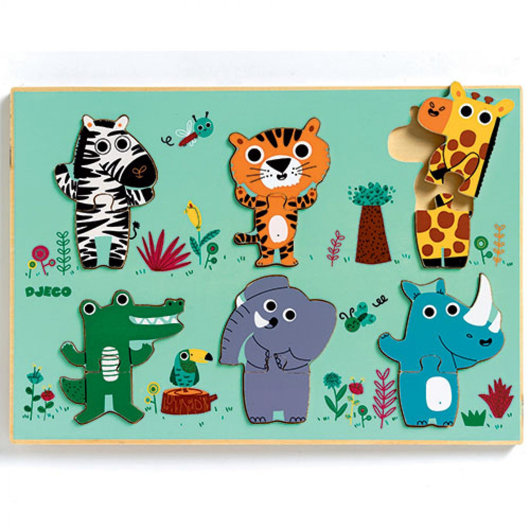 puzzel jungledieren | djeco