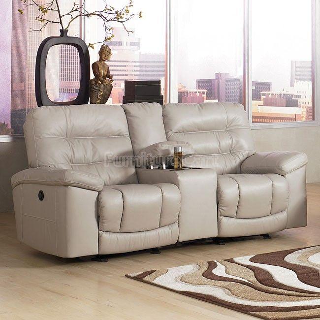 Climax - Iceberg Dual Glider Reclining Loveseat W/ Console Signature Design   Furniture Cart